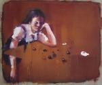'Bored' (2014) 100x120cm, oil on canvas
