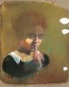 'Sssst...' (2014) 100x80cm, oil on canvas