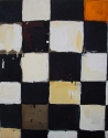 Lieven Decabooter   'Zwart wit oranje geblokt' (2005) 70x55cm, oil on canvas.