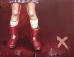 Lieven Decabooter | 'Red boots' (2012) 55x70cm, oil on canvas.