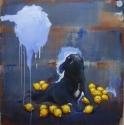 Lieven Decabooter | 'Geile hond en citroenen' (2012) 150x150cm, oil on canvas.